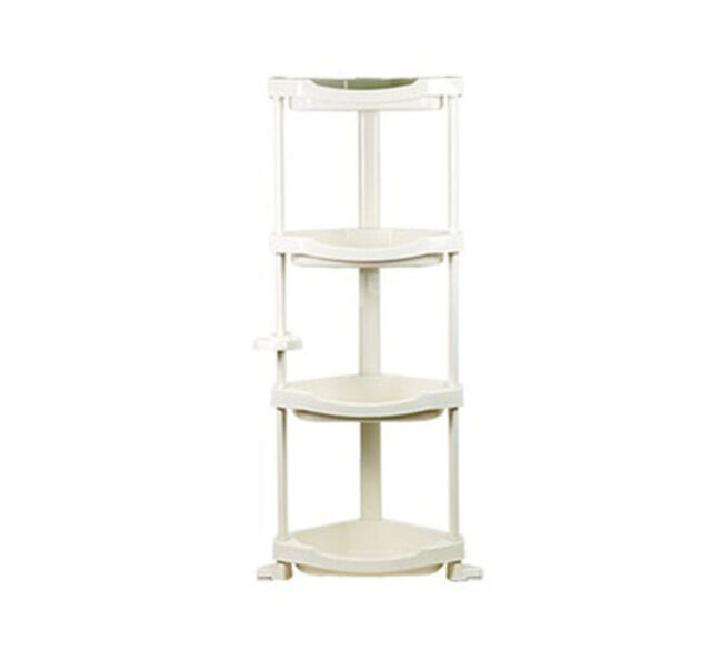 kitchen corner shelf gadget stores 4 tier layers storage pvc bathroom stand sundries rack