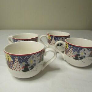 4 Noritake Twas The Night Before Christmas Scottie Mug Cups | eBay