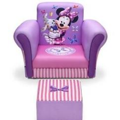 Toddler Chair And Ottoman Comfortable Camping Chairs Minnie Mouse Set Girl Gift Kids Furniture Image Is Loading