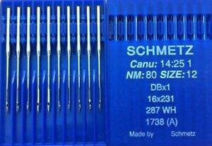 Schmetz Dbx1 287 Wh Canu 14 25 1 Nm 80 Gr 12 Industrie Nahmaschine Nadel Ebay