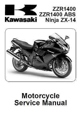 2008 2009 2010 Kawasaki Ninja ZX-14 ZZR1400 ABS service