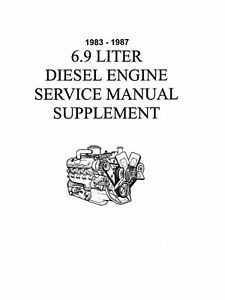 OEM Repair Maintenance Shop Manual Bound Ford Truck 6.9