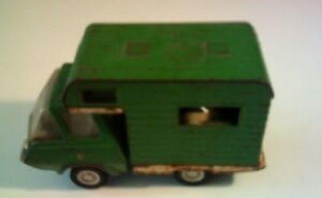 Vintage 70 S Green Tonka Camper Rv Truck Motorhome