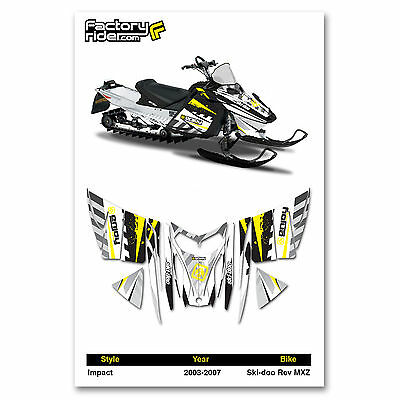 2003-2007 SKI DOO REV MXZ SNOWMOBILE GRAPHICS IMPACT STYLE