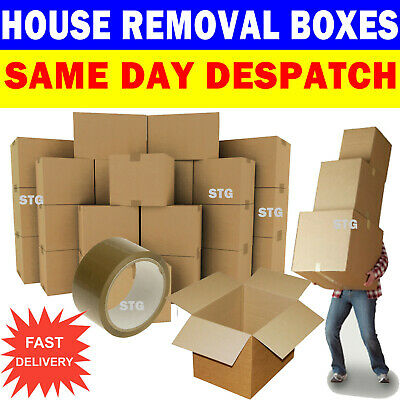 New 20 X Large Cardboard House Moving Boxes Removal Packing Box 5056061811203 Ebay