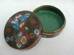 Fine Chinese Antique Cloisonné Enamel Smokers Tobacco Box