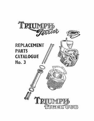 Triumph Parts Manual Book 1954 & 1955 Terrier & 1954