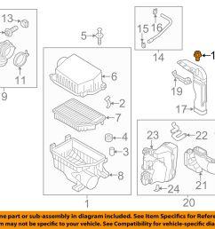 kia oem 12 15 rio air cleaner intake inlet duct clip 865901w000 [ 1500 x 1197 Pixel ]