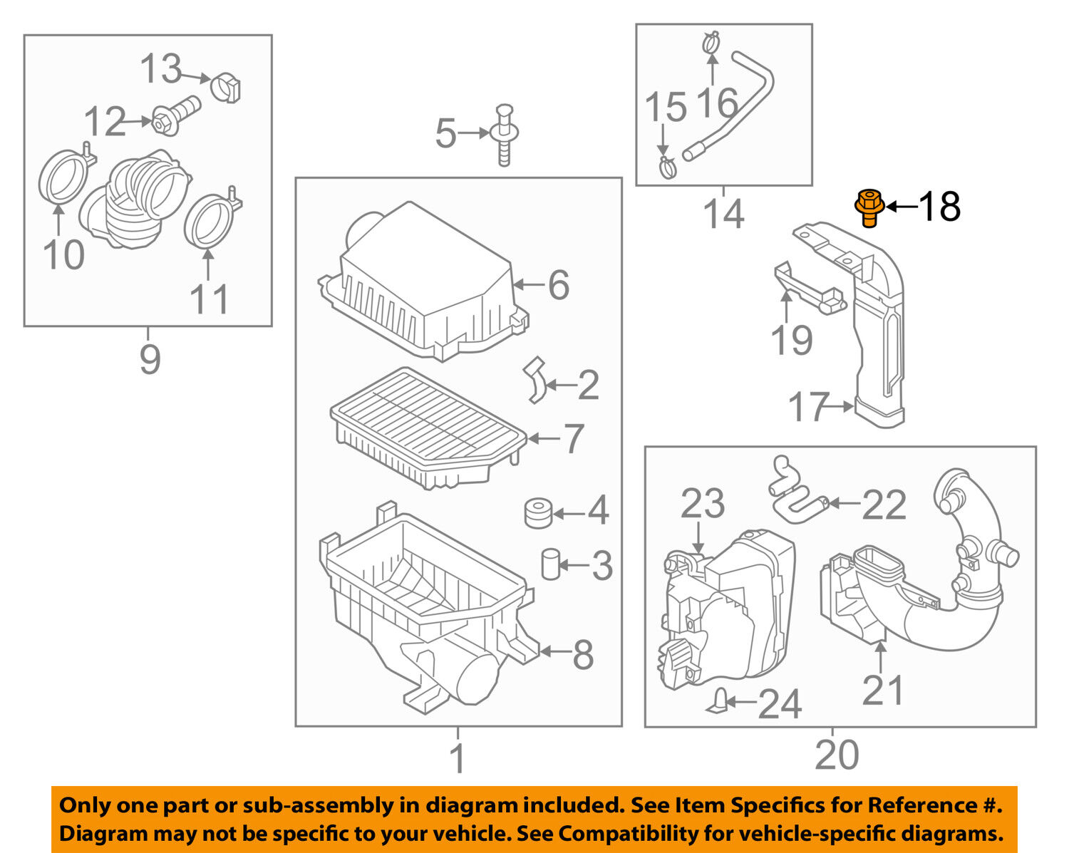hight resolution of kia oem 12 15 rio air cleaner intake inlet duct clip 865901w000