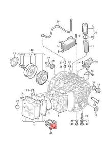 Genuine Speed Sensor With Temperature Sensor AUDI VW Q3