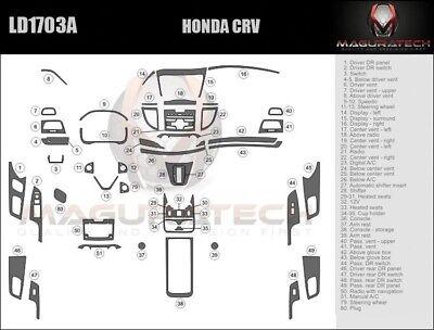Fits Honda CRV 2012-2014 W/Auto Trans Large Wood Dash Trim
