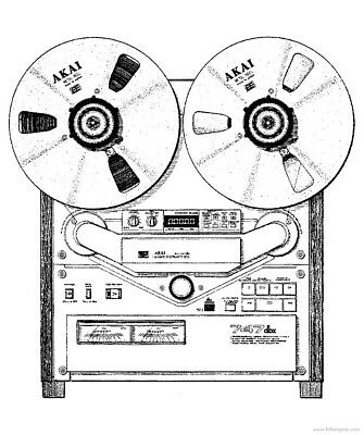 AKAI GX-747-DBX Reel to Reel SERVICE MANUAL 78 PAGES ON A