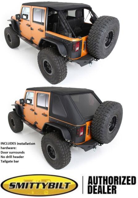 Jeep Jk Frameless Soft Top : frameless, Smittybilt, 9087235K, Protek, Bowless, Combo, Wrangler, Online