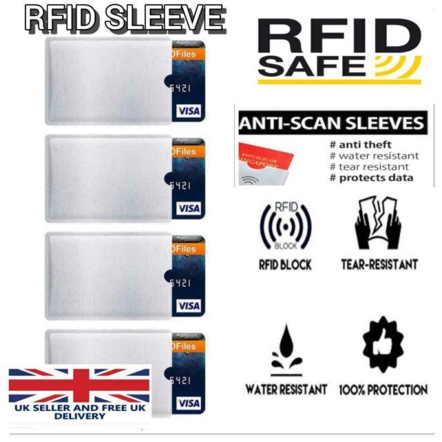 10 X Rfid Blocking Sleeve Credit Card Protector Bank Card Holder For Wallets Uk For Sale Online Ebay