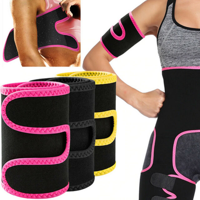 2pcs thigh arm wraps trimmer shaper fat burner sweat body slimming weight loss