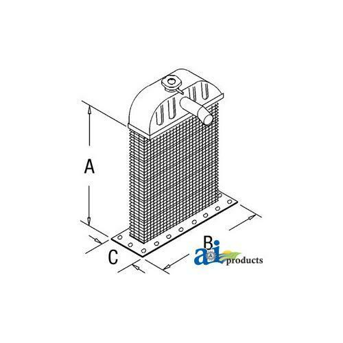 351878R93 NEW RADIATOR ASSEMBLY for IH FARMALL TRACTOR CUB