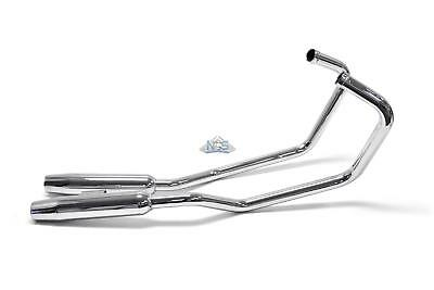 Honda Rebel CMX250 Staggered 2-Into-2 Chrome Taper Exhaust