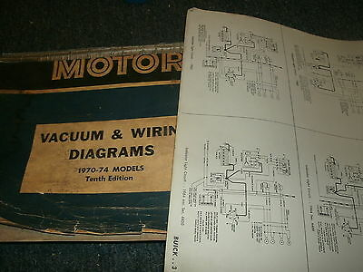 1974 ford mustang ii oversized wiring diagrams manual sheets set  ebay