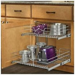 Kitchen Cabinet Storage Organizers Decore Pull Out Sliding Metal Pot Organizer 2 Image Is Loading