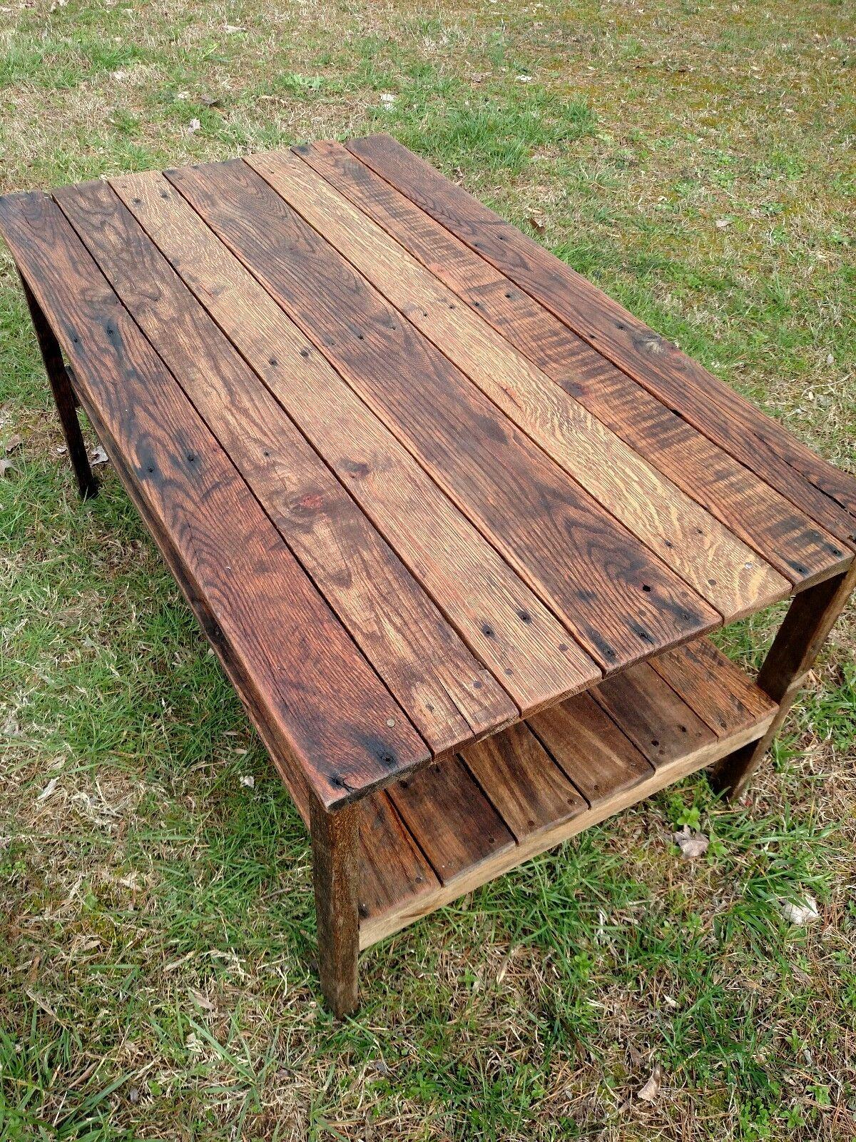 coffee table reclaimed pallet wood upcycled handmade vintage rustic look