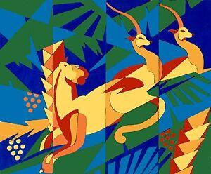details sur peinture art deco africa