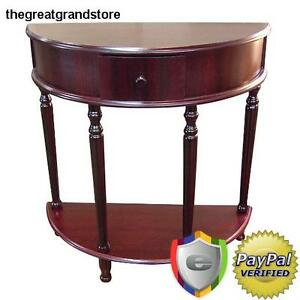 half moon tables living room furniture media cabinet entryway console accent hall image is loading