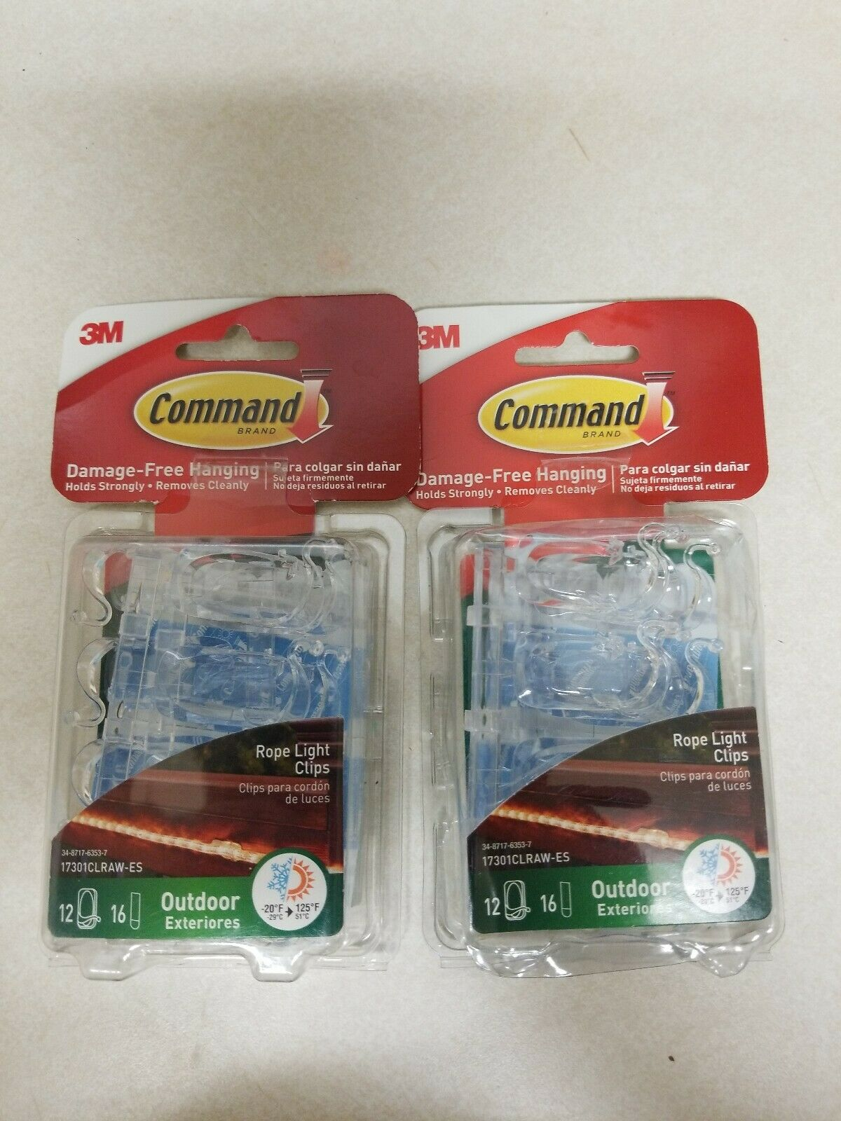 Command Outdoor Rope Light Clips Clear Christmas 17301clraw Es 2 Packages For Sale Online Ebay