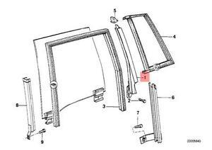 Genuine BMW E30 Wagon Window Guide Rail Left OEM