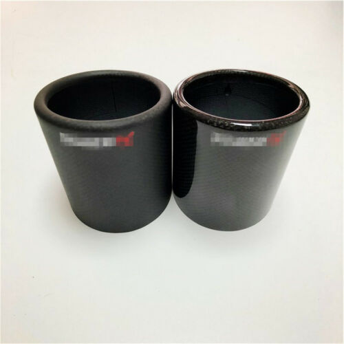 76mm 3inch glossy carbon fiber car carbon exhaust tip muffler pipe cover case car truck parts social eyez auto parts and vehicles