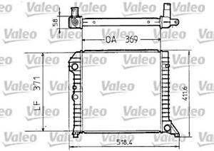 VALEO Engine Cooling Radiator Fits VOLVO 440 460 480 Sedan