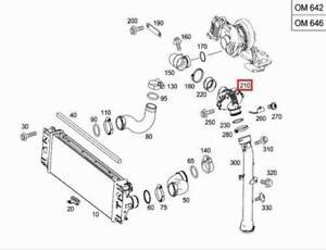 GENUINE Mercedes OM642 Engine Turbocharger Intercooler