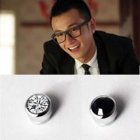 Non Piercing Crystal Clip On Round Magnetic Earrings Men ...