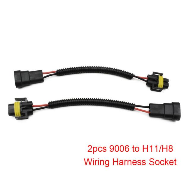 2Pcs 9006 To H11 H8 Headlight Fog Light Conversion Wiring