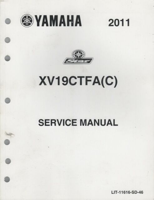2011 YAMAHA MOTORCYCLE STAR, XV19CTFA(C) SERVICE MANUAL