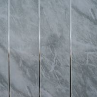 Grey Marble & Chrome Bathroom Cladding Panels PVC Kitchen