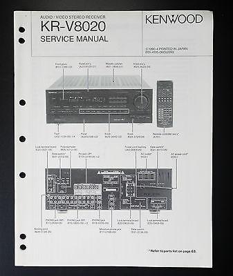 kenwood krv8020 original service manual/service manual/wiring diagram   ebay