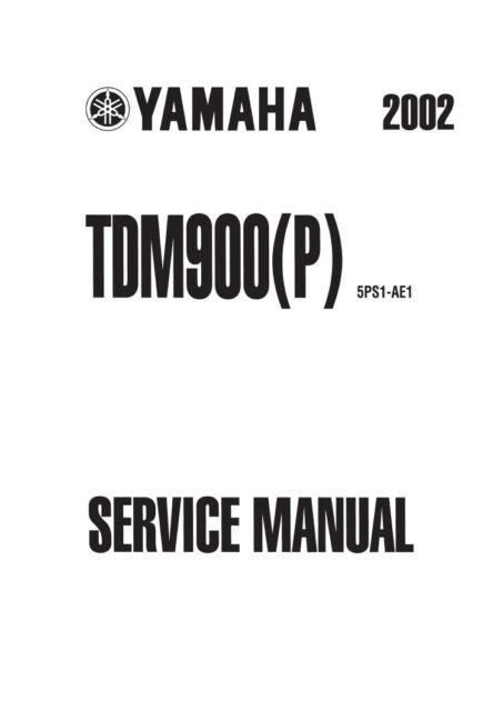 New Yamaha TDM 900 TDM900 P Repair Service Manual FREE