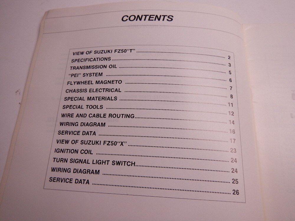 medium resolution of 1980 suzuki fz50 supplementary service manual 99000 85057 0e3 fz 50 80 ebay