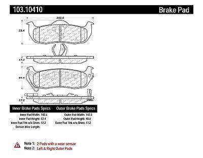 C-TEK Ceramic Brake Pads fits 2004-2009 Nissan Titan
