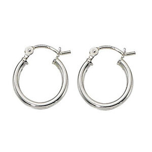 Sterling Silver Small Thin Hinged Hoop Earrings 2mm or 3mm
