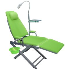 Portable Dental Chair Philippines Recliner Glider Led Cold Light Cuspidor Tray Dentistry Mobile Description