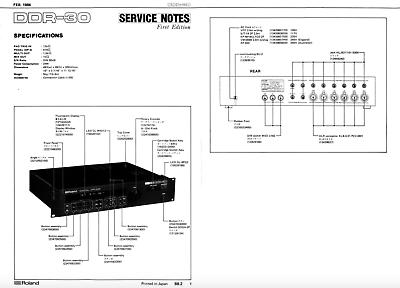 Roland ddr-30 Schematic Diagram Service Manual schaltplan