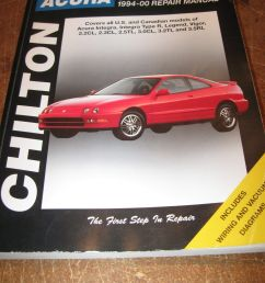 chilton acura coupes sedans 1994 2000 repair manual 10302 integra legend vigor for sale online ebay [ 1200 x 1600 Pixel ]