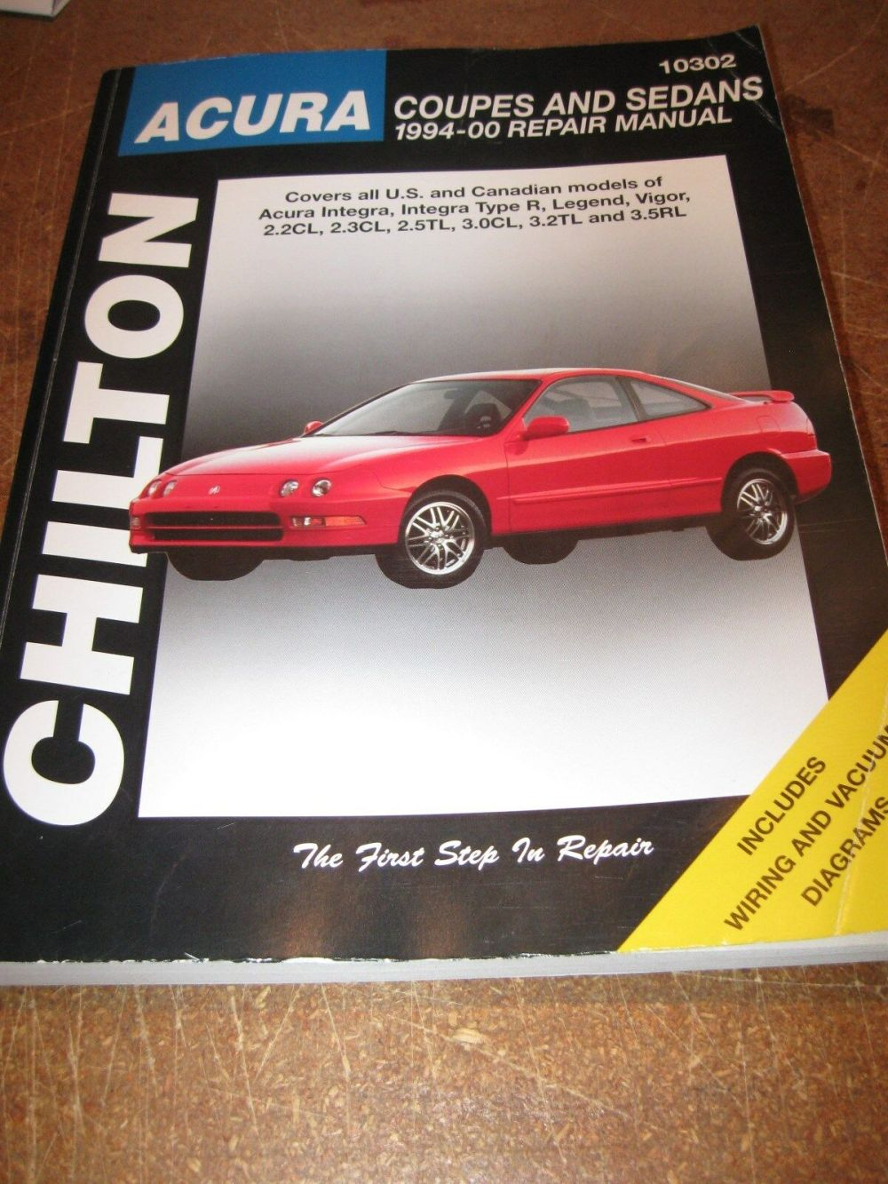 medium resolution of chilton acura coupes sedans 1994 2000 repair manual 10302 integra legend vigor for sale online ebay
