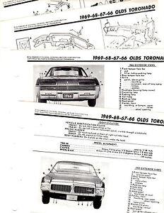 1966 1967 1968 1969 OLDSMOBILE TORONADO MOTOR'S ORIGINAL