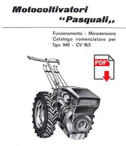 PASQUALI 945 Manuale Uso Manutenzione libretto istruzioni