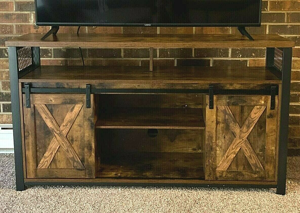 Tv Board Industrial Vintage Handmade Tv Stand Reclaimed Low Board Storage Sideboard Media Cabinet For Sale Online | Ebay
