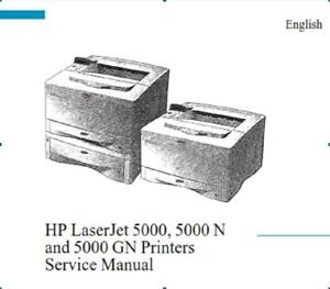 Free shipping HP LASERJET 5000 N /GN PRINTER SERVICE