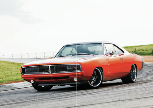 1969 dodge charger mopar new large art print poster picture wall 33 1 x23 4 art posters art