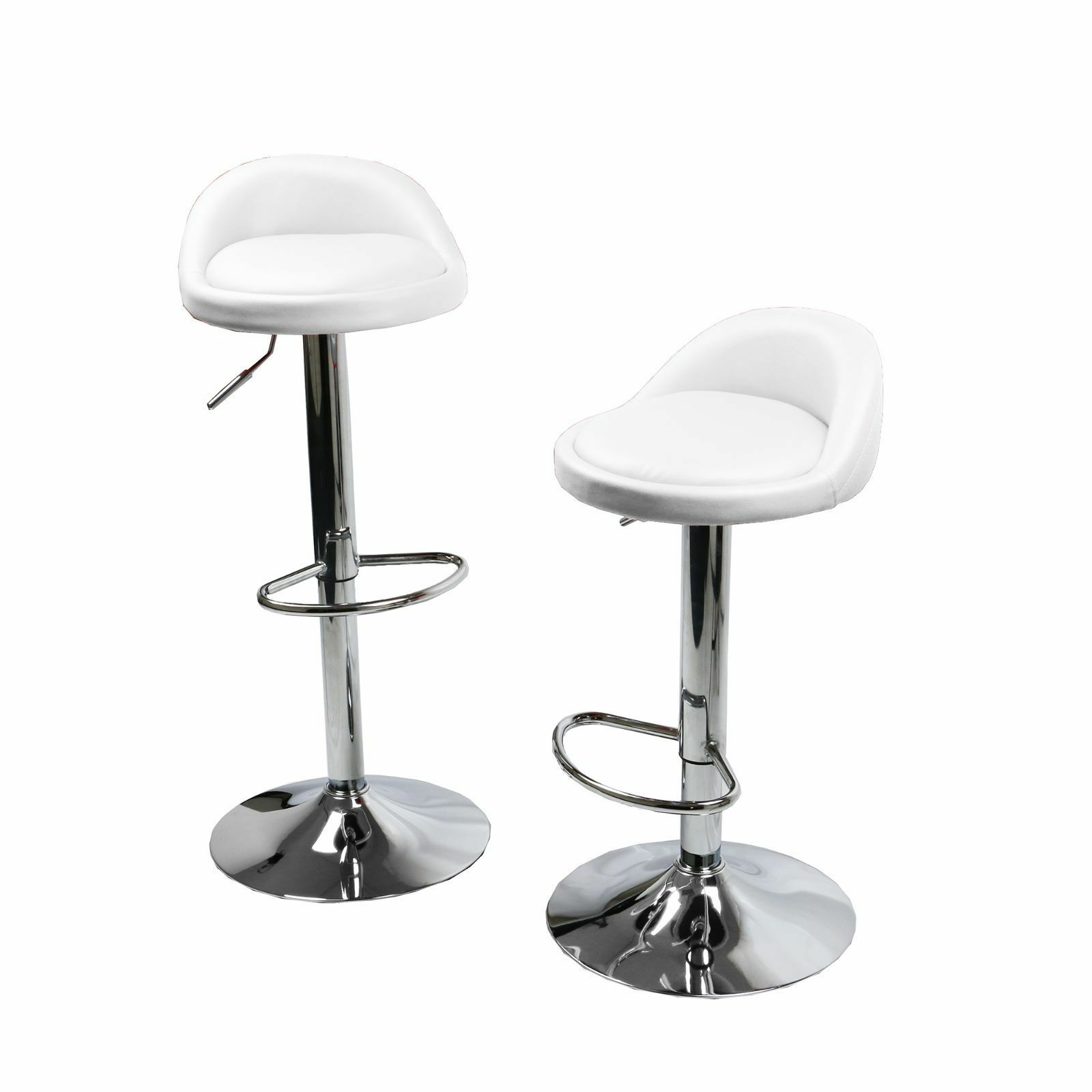 White Counter Height Chairs Set Of 2 White Leather Bar Stools Swivel Dinning Counter